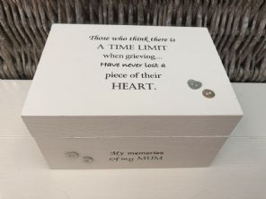 Personalised In Memory Of Box Loved One ~ MUM ~ MAM ~ any Name Bereavement Loss - 332624123115